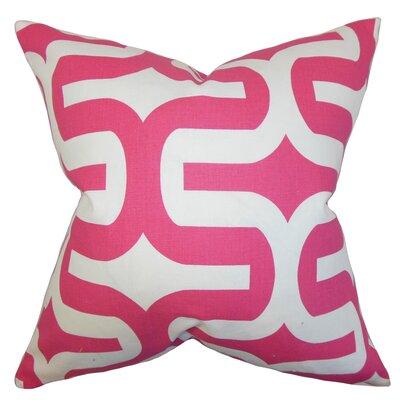 Libbie Geometric Floor Pillow Color: Candy