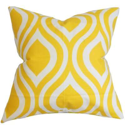 Acro Geometric 100% Cotton Floor Pillow Color: Yellow