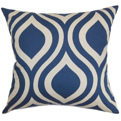 Acro Geometric 100% Cotton Floor Pillow Color: Indigo