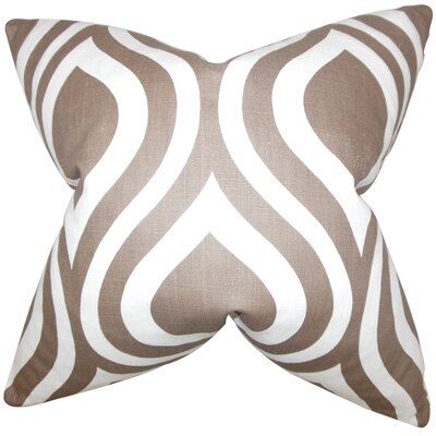 Acro Geometric 100% Cotton Floor Pillow Color: Brown