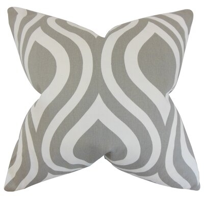 Acro Geometric 100% Cotton Floor Pillow Color: Gray