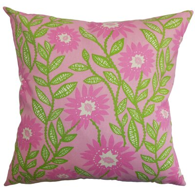 Arber Floral Floor Pillow Color: Pink
