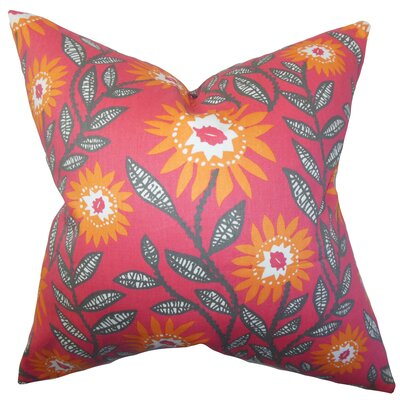 Arber Floral Floor Pillow Color: Sherbet