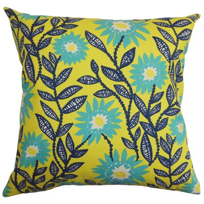 Arber Floral Floor Pillow Color: Yellow