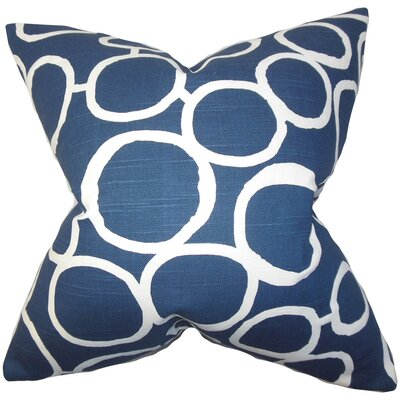 Beltran Geometric Floor Pillow Color: Blue