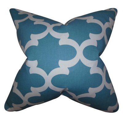 Houseknecht Geometric Floor Pillow Color: Regatta