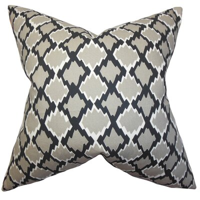 Cassella Geometric Floor Pillow Color: Gray