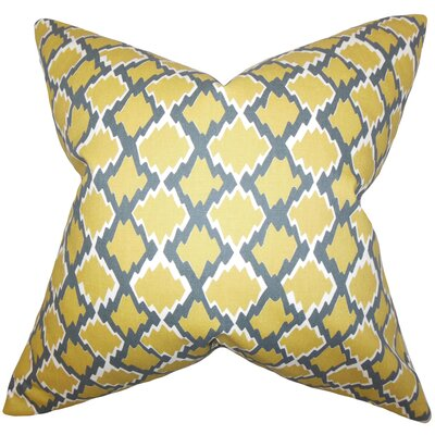 Cassella Geometric Floor Pillow Color: Yellow