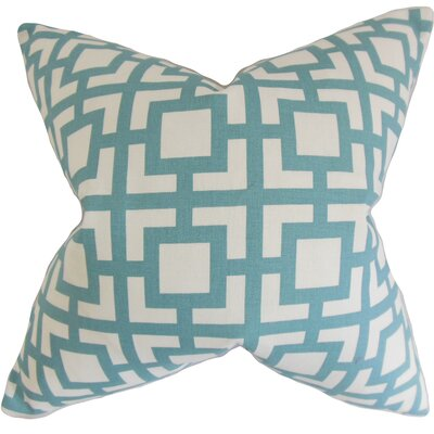 Bostick Geometric Floor Pillow Color: Light Blue