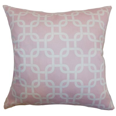 Burkholder Geometric Floor Pillow Color: Pink