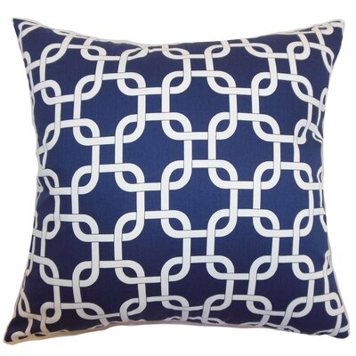 Burkholder Geometric Floor Pillow Color: Blue