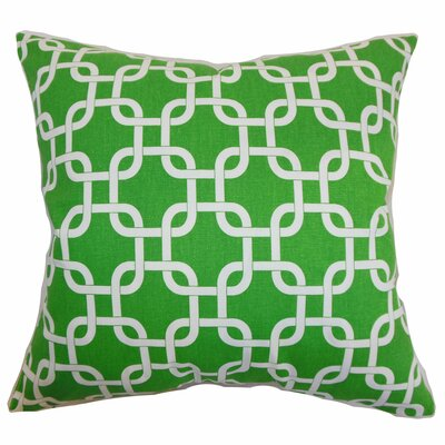 Burkholder Geometric Floor Pillow Color: Callie White