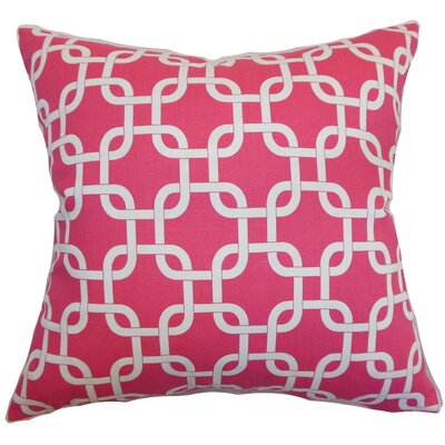 Burkholder Geometric Floor Pillow Color: Candy Pink