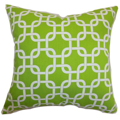 Burkholder Geometric Floor Pillow Color: Chartreuse