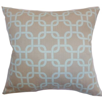 Burkholder Geometric Floor Pillow Color: Powder Blue
