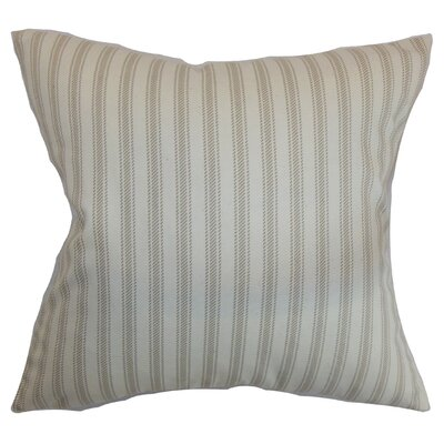 Salisbury Stripes Floor Pillow Color: Maple/Natural