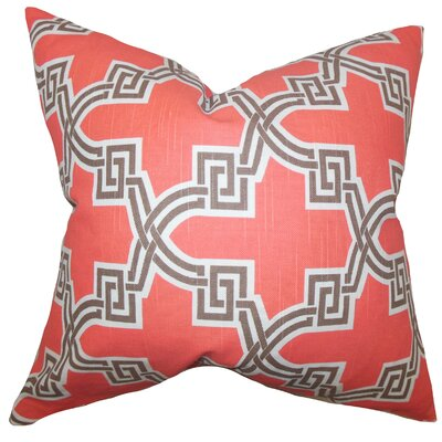 Mahesh Geometric Floor Pillow Color: Orange