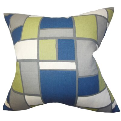 Caitlyn Geometric Floor Pillow Color: Blue/Green