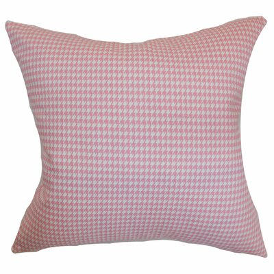 Langevin Houndstooth Floor Pillow Color: Baby Pink