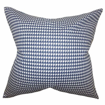 Langevin Houndstooth Floor Pillow Color: Blue