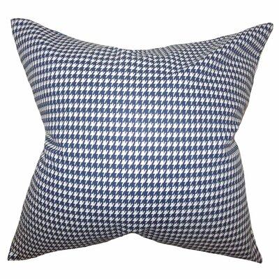 Langevin Houndstooth Floor Pillow Color: Blue