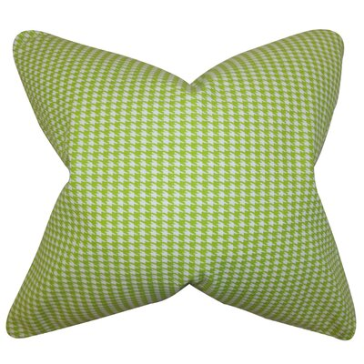 Langevin Houndstooth Floor Pillow Color: Green