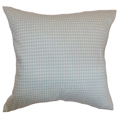 Langevin Houndstooth Floor Pillow Color: Powder Blue