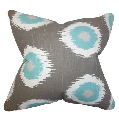 Raley Ikat Floor Pillow Color: Gray