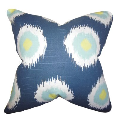 Burkart Ikat Floor Pillow Color: Blue