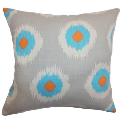 Burkart Ikat Floor Pillow Color: Chili Peppers