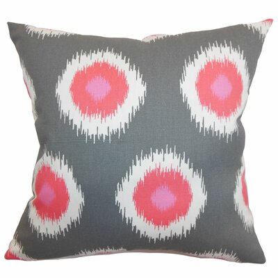 Burkart Ikat Floor Pillow Color: Flamingo