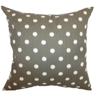 Hearon Ikat Dots Floor Pillow Color: Grapevine Brown Dossett