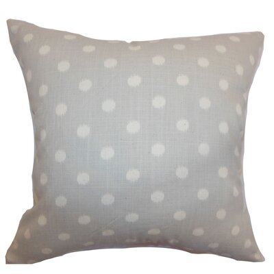 Hearon Ikat Dots Floor Pillow Color: Natural