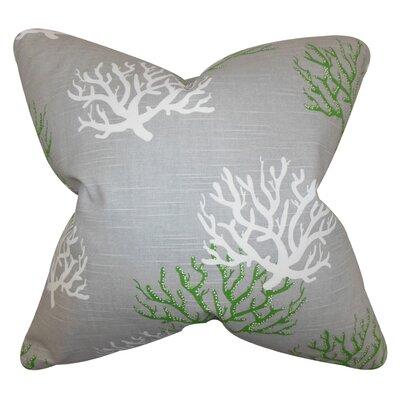 Lexford Coastal Floor Pillow Color: Gray/Green