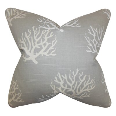 Lexford Coastal Floor Pillow Color: Gray