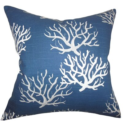 Lexford Coastal Floor Pillow Color: Navy Blue