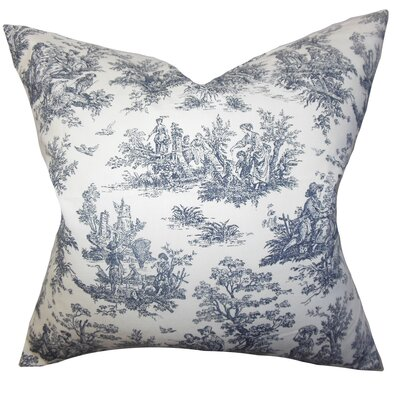 Petersen Toile Floor Pillow Color: Black