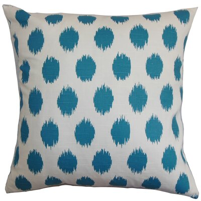 Bellis Floor Pillow Color: Blue
