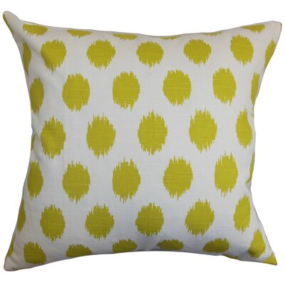 Bellis Floor Pillow Color: Green/White