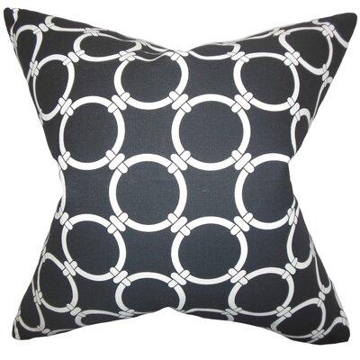 Burt Geometric Floor Pillow Color: Black