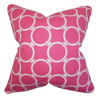 Burt Geometric Floor Pillow Color: Candy Pink