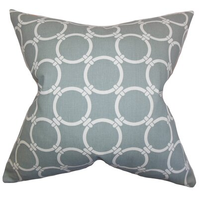 Burt Geometric Floor Pillow Color: Gray