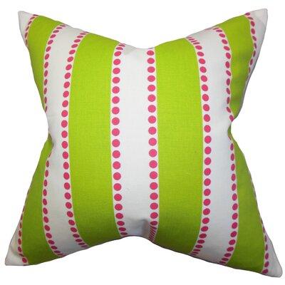 Casselman Stripes Floor Pillow Color: Green