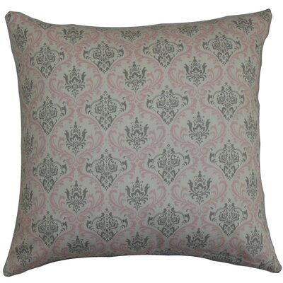 Janine Damask Floor Pillow Color: Twill Pink
