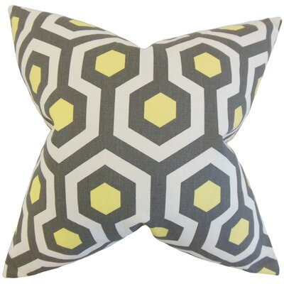 Kamron Geometric Floor Pillow Color: Gray