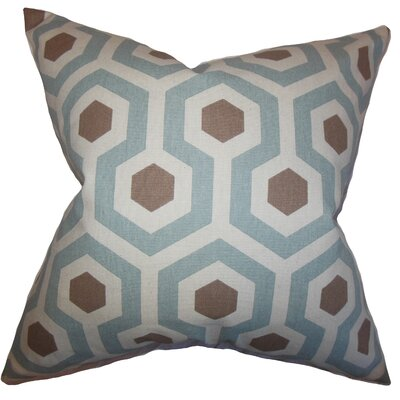 Kamron Geometric Floor Pillow Color: Pewter/Natural