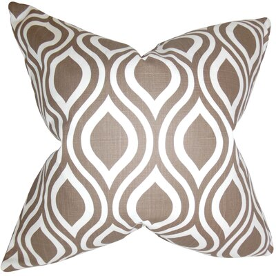 Burdge Geometric Floor Pillow Color: Brown