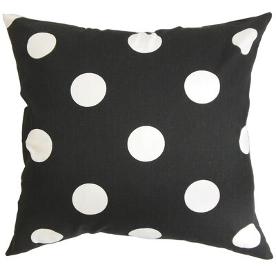 Hearns Polka Dots Floor Pillow Color: Black/White
