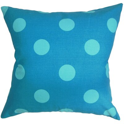 Hearns Polka Dots Floor Pillow Color: Turquoise/Blue