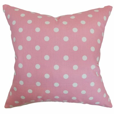 Dunkel Polka Dots Floor Pillow Color: Candy Pink/White